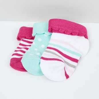 MAX Striped Socks - Pack of 3 - 0-6M
