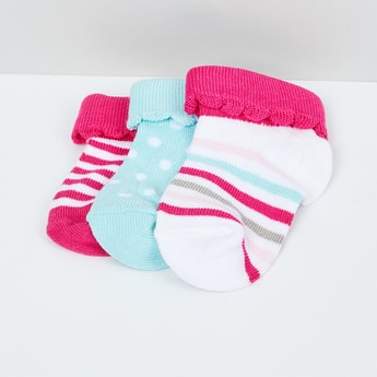 MAX Woven Design Socks - Pack of 3 - 1-2Y