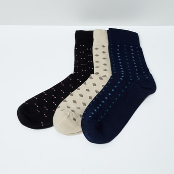 MAX Jacquard Patterned Socks - Set of 3