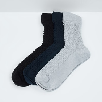 MAX Textured Elasticated Socks - Pack of 3