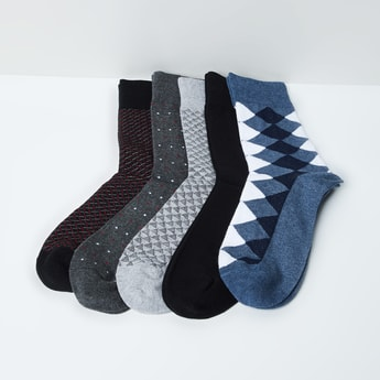 MAX Woven Design Socks- Set of 5