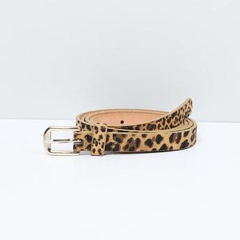 MAX Animal Print Belt with Buckle Closure