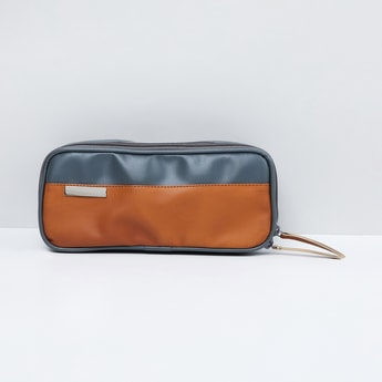 MAX Clourblocked Zip-Closure Toiletry Pouch