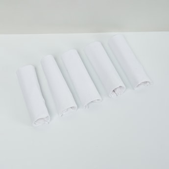 MAX Solid Handkerchief with Border Detail- Set of 5