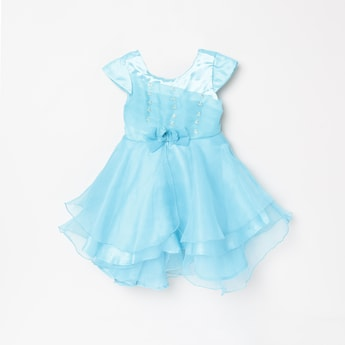 MAX Beaded Tiered Fit and Flare Dress