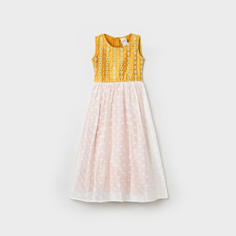 MAX Embroidered Flared Dress