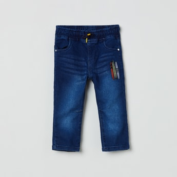 MAX Dark Washed Jeans with Embroidery