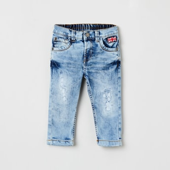 MAX Acid Washed Slim Fit Jeans