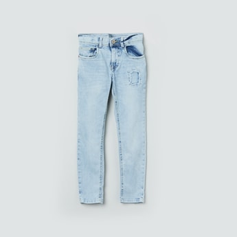 MAX Heavily Washed Distressed Jeans