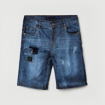 MAX Washed Distressed Denim Shorts