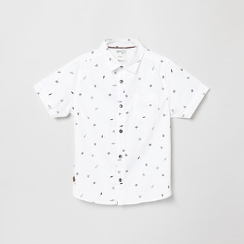 MAX Printed Casual Shirt with Short Sleeves