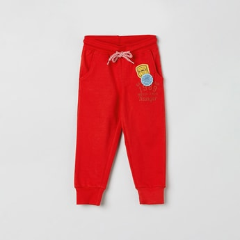 MAX Elasticated Joggers with Applique Detail