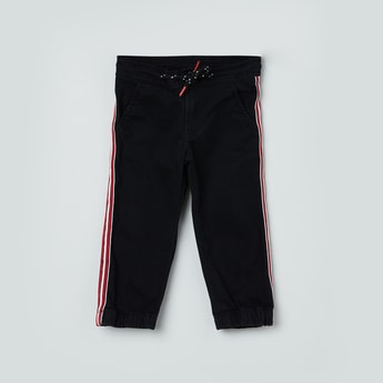 MAX Denim Joggers with Contrast Taping