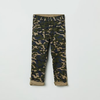MAX Camouflage Print Casual Trousers