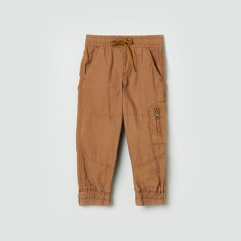 MAX Solid Joggers with Slant Pockets