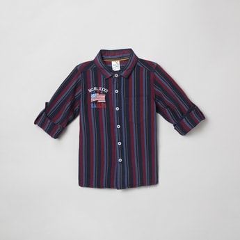 MAX Roll-Up Sleeves Striped Casual Shirt