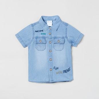MAX Stonewashed Short Sleeves Denim Shirt