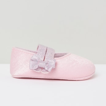 MAX Textured Mary Janes with Bow