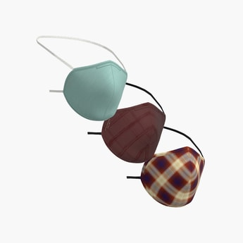 Peter England Unisex Reusable Face Mask - Pack of 3