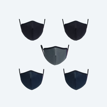 MAX Kids Textured Face Mask- Set of 5 - 11-14 Y