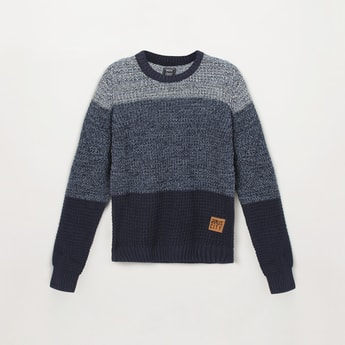 MAX Colorblocked Crew Neck Sweater