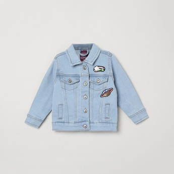 MAX Lightwashed Full Sleeves Denim Jacket
