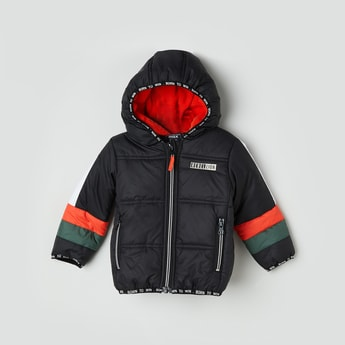 MAX Appliqued Hooded Puffed Jacket