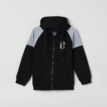 MAX Colourblock Zip-Front Hoodie with Raglan Sleeves