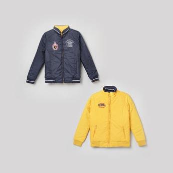 MAX Applique Reversible Bomber Jacket