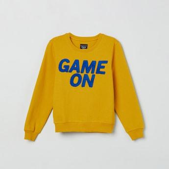 MAX Typographic Sweatshirt with Long Sleeves