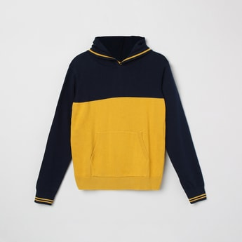 MAX Colourblock Hooded Sweater with Kangaroo Pockets