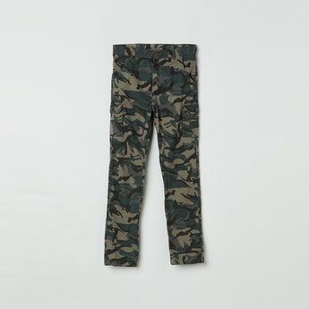 MAX Camouflage Print Cargo Trousers