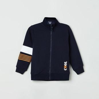 MAX Striped Open-Front Sweatshirt