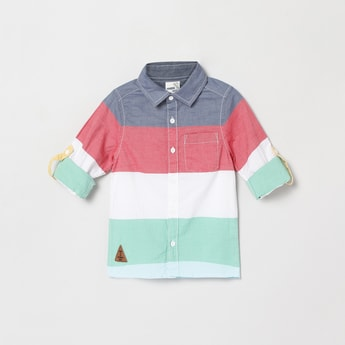 MAX Colourblock Full Sleeves Casual Shirt