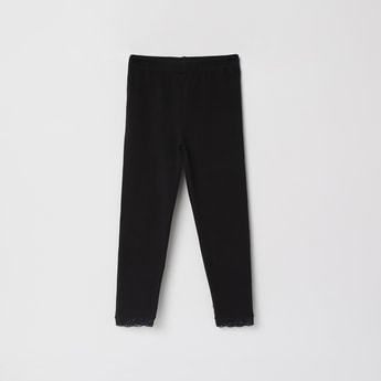 MAX Solid Elasticated Full-Length Leggings