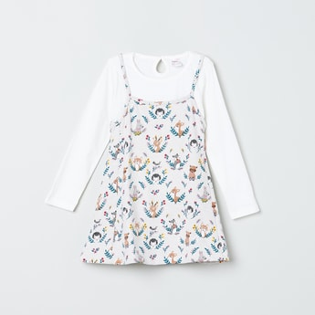 MAX Printed Dress with Solid T-shirt