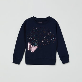 MAX Embellished Full Sleeves Sweatshirt