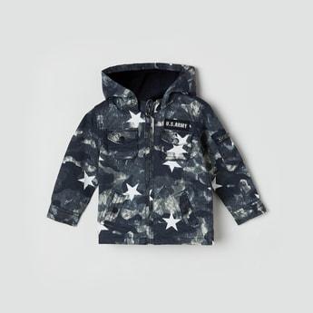 MAX Star Print Hooded Jacket