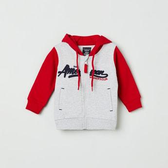 MAX Embroidered Full Sleeves Hooded Sweatshirt