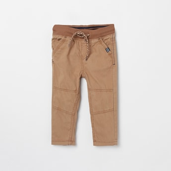 MAX Solid Elasticated Full Length Trousers