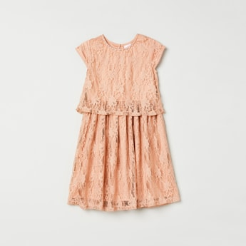 MAX Floral Lace Popover Dress