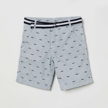 MAX Printed Shorts with Belt