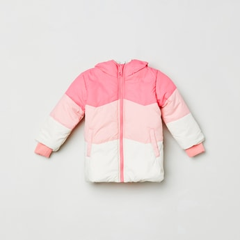 MAX Colourblocked Puffed Jacket with Hood