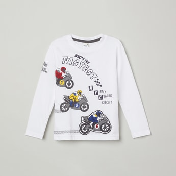 MAX Printed Crew Neck T-shirt