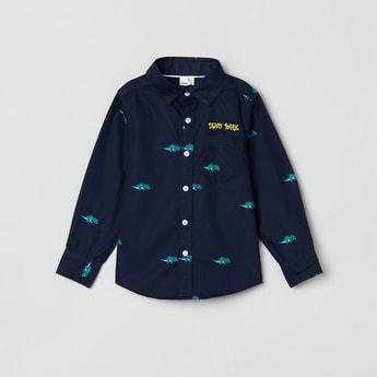 MAX Dino Print Casual Shirt