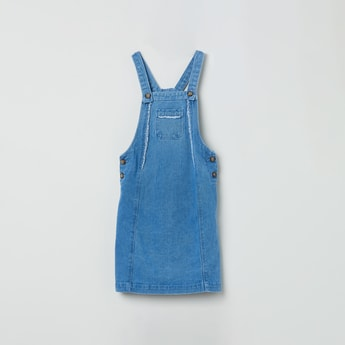 MAX Lightwashed Pinafore Dress