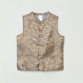 MAX Foil Print Sleeveless Jacket