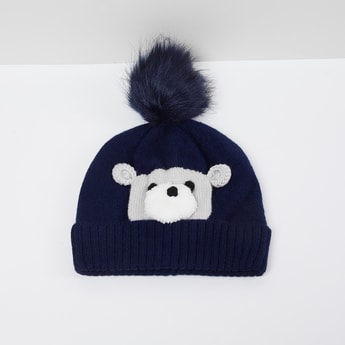 MAX Appliqued Beanie with Pom-Pom