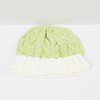 MAX Patterned Beanie with Pom-Pom