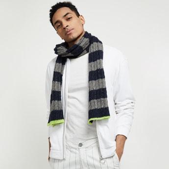MAX Colourblocked Knitted Muffler
